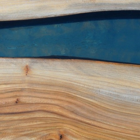 Salontafel | hout met epoxy