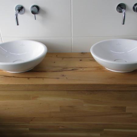 Badkamermeubel | rustiek eiken, greeploze lades met tip en go