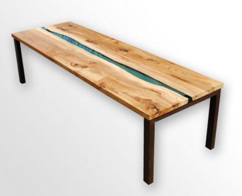 Riviertafel | iepenhout met epoxy