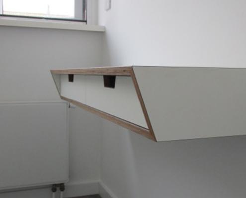 Bureau zwevend | berkenhout
